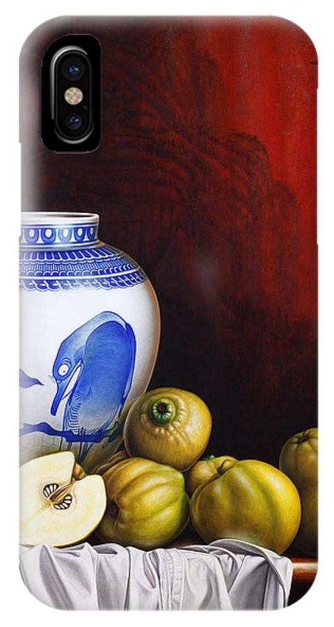 Quinces IPhone X Case featuring the painting Quinces by Horacio Cardozo