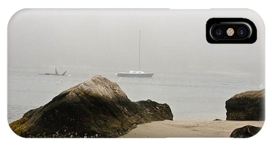 Knob IPhone X Case featuring the photograph Quissett Fog 3 by Dennis Coates