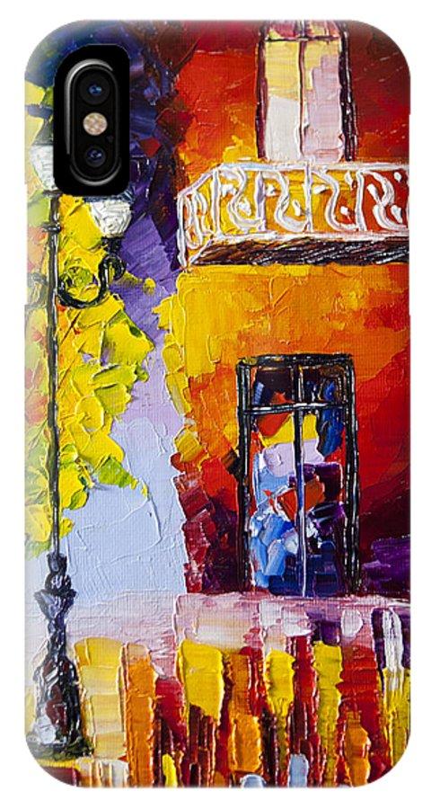 Paris IPhone X Case featuring the painting Quite Evening In Paris by Natasha Petrosova