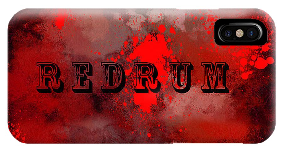 Redrum IPhone X Case featuring the painting R E D R U M - Featured In Visions Of The Night Group by Ericamaxine Price