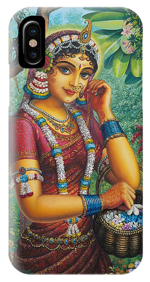 radharani in garden vrindavan das