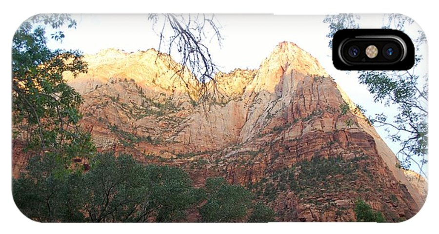Utah IPhone X Case featuring the photograph Radiant Canyon Wall by Mari Gates