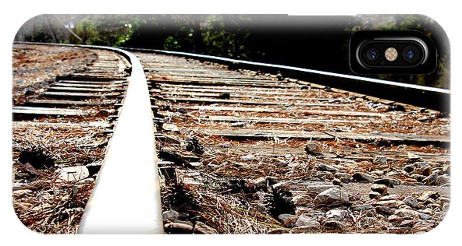 Rail IPhone X Case featuring the photograph Rail by Shawn MacMeekin
