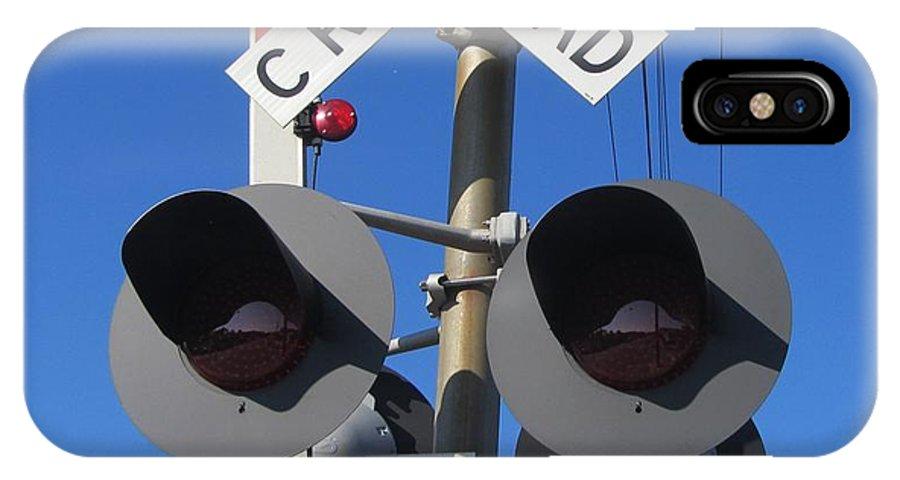 Railroad Crossing Lights IPhone X Case