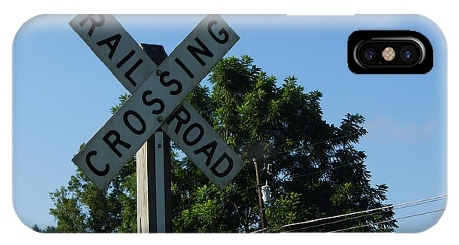 Railroad IPhone X Case featuring the photograph Railroad Crossing by Paul Wilford