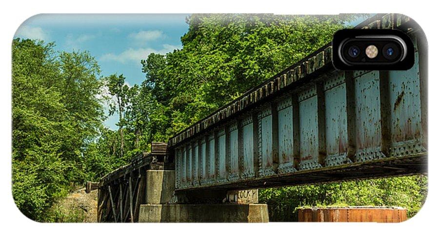 Railroad Bridge IPhone X Case featuring the photograph Railroad Over Waccamaw by Gene Berkenbile