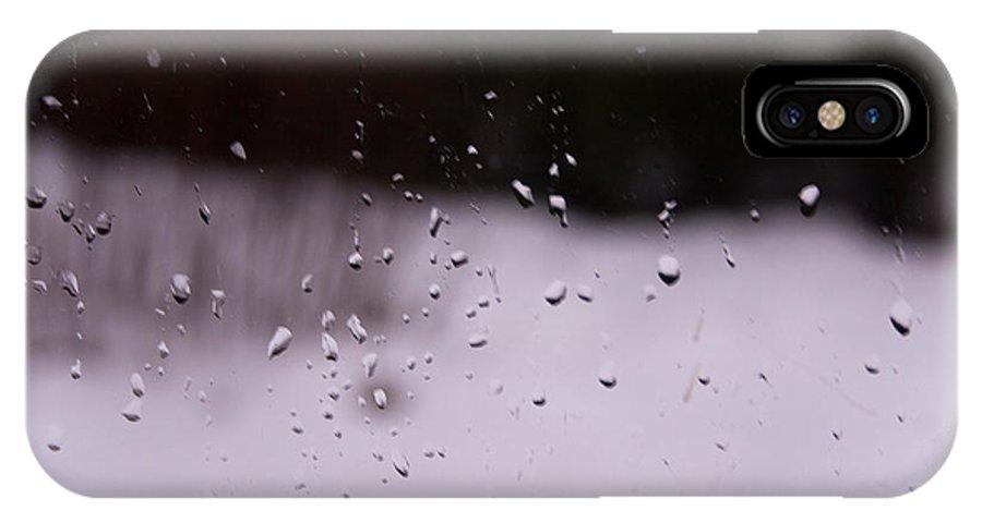 Rain IPhone X Case featuring the photograph Rain by Geir Ivar Odegaard