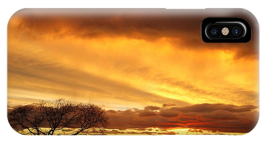 Galveston IPhone X Case featuring the photograph Storm At Dusk 2am-108330 by Andrew McInnes