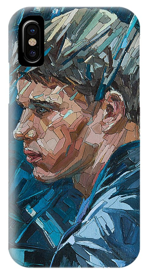 Rain IPhone X Case featuring the painting Rain by Sergey Sovkov