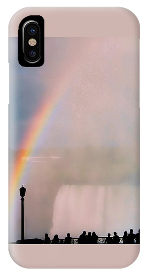 Rainbow IPhone X Case featuring the photograph Rainbow Falls by Pharris Art