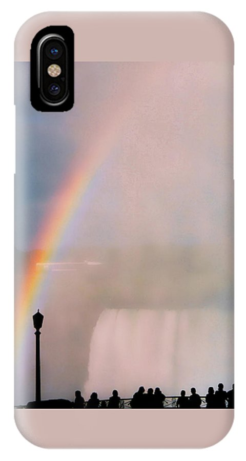Rainbow IPhone X Case featuring the photograph Rainbow Falls by Pharris Art