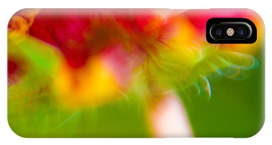 Art IPhone X Case featuring the photograph Rainbow Flower by Darryl Dalton