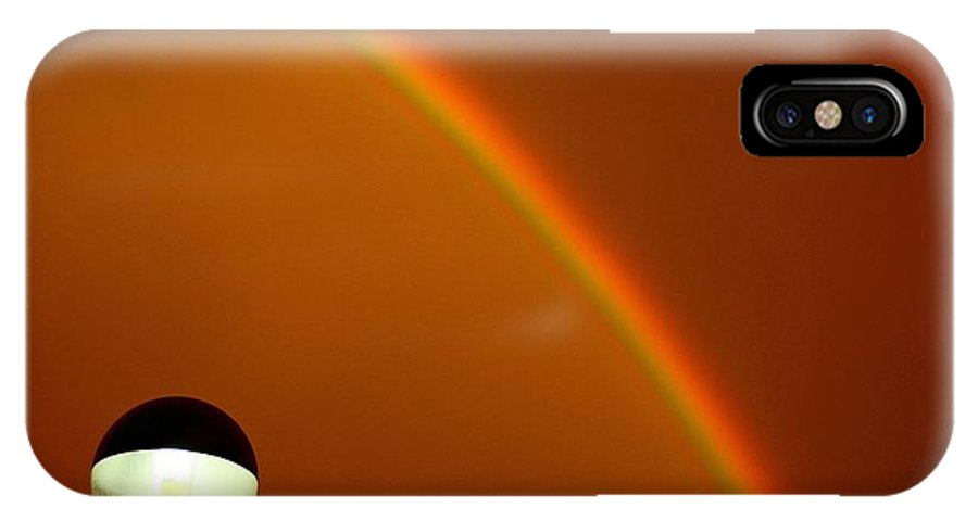 Sunset IPhone X Case featuring the photograph Rainbow by Fred Alexandre