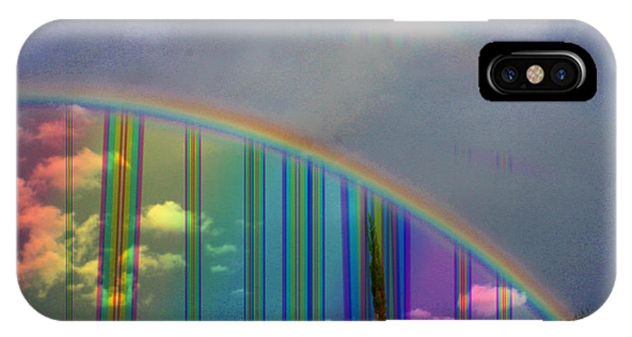 Augusta Stylianou IPhone X Case featuring the photograph Rainbow Landscape by Augusta Stylianou