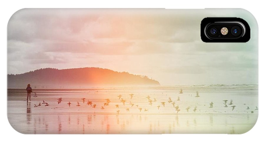 Rainbow IPhone X Case featuring the photograph Rainbow - On A Wing And A Prayer by Bridget Visser