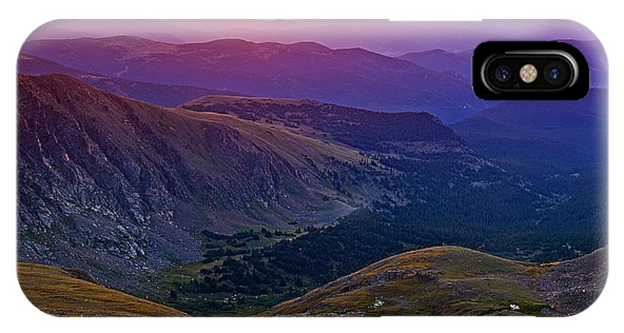 Daybreak IPhone X Case featuring the photograph Rainbow Sunrise by Brian Kerls