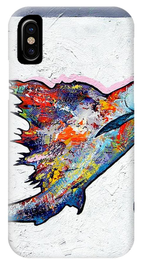 Wildlife IPhone Case featuring the painting Rainbow Warrior - Sailfish by Joe Triano