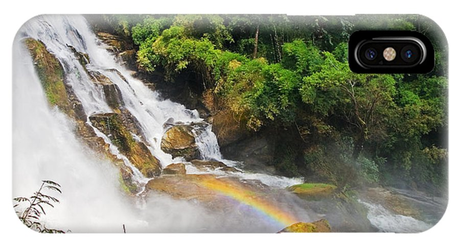 Waterfall IPhone X Case featuring the photograph Rainbow Waterfall by Artur Bogacki