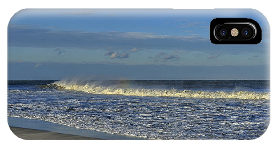 Rainbow Wave Seaside New Jersey IPhone X / XS Case featuring the photograph Rainbow Wave Seaside New Jersey by Terry DeLuco
