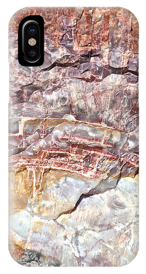 Petrified Wood IPhone X Case featuring the photograph Rainbow Wood by Susan Herber