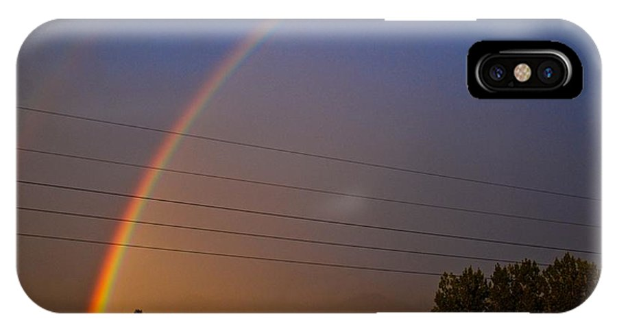 Rainbow IPhone X Case featuring the photograph Rainbows Welcome Here by Eric Tressler