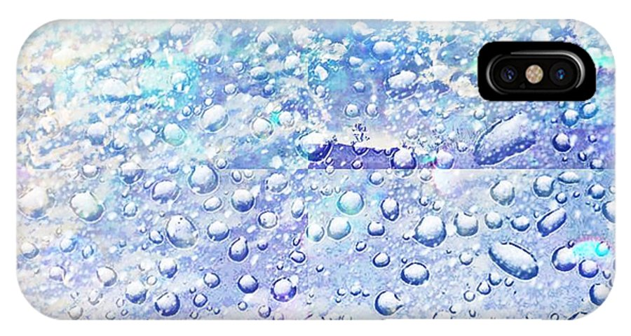 : Photographs Photographs Photographs IPhone X Case featuring the photograph Raining by HollyWood Creation By linda zanini