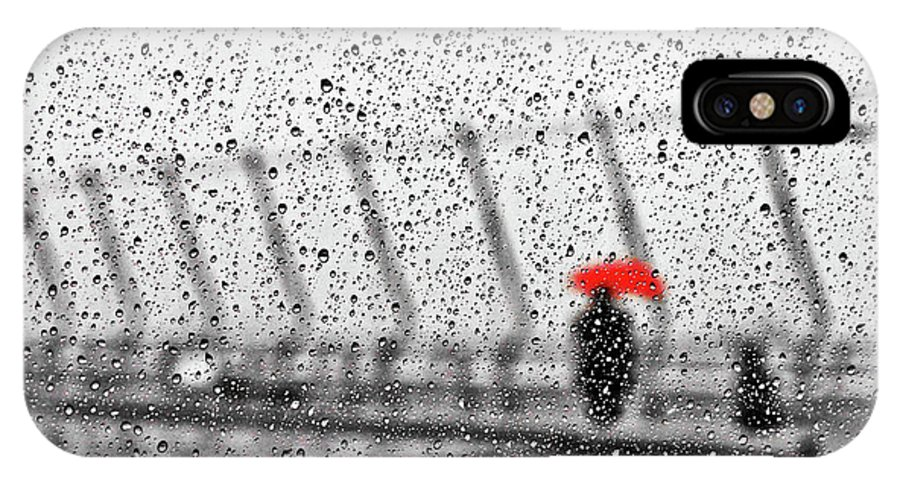 Rain IPhone X Case featuring the photograph Rainy Day by Keisuke Ikeda @