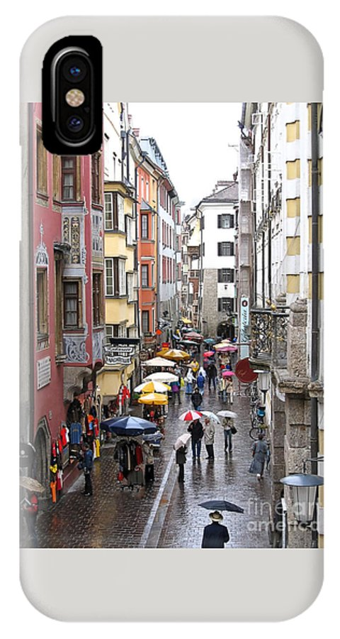 Innsbruck IPhone Case featuring the photograph Rainy Day Shopping by Ann Horn