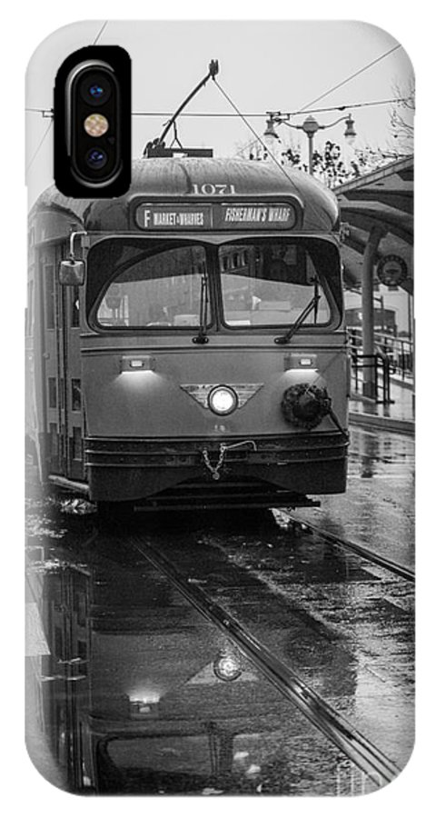 Black & White IPhone X Case featuring the photograph Rainy Daze by Nicholas Pappagallo Jr