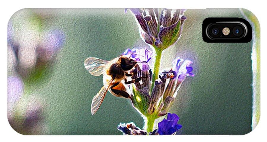 Honeybee IPhone X Case featuring the photograph Random Lavender Sampling by Joe Schofield