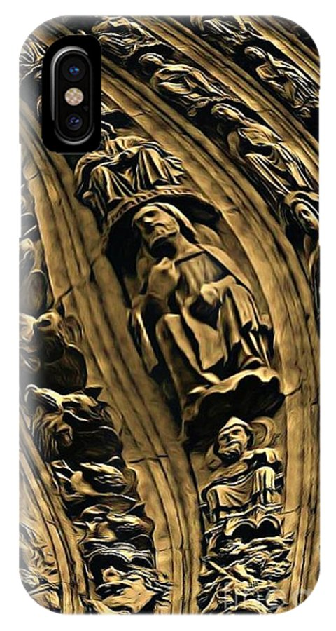 Statues IPhone X Case featuring the photograph Raptured Saints by John Malone
