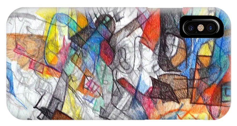 Abstract Art IPhone X / XS Case featuring the drawing tribute to the Ramchal  by David Baruch Wolk