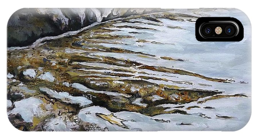 Landscape IPhone X Case featuring the painting Ravenscar I by Victoria Richards