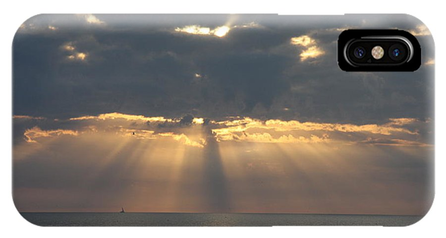 Sunset IPhone X Case featuring the photograph Rays Of The Sunlight by Christiane Schulze Art And Photography
