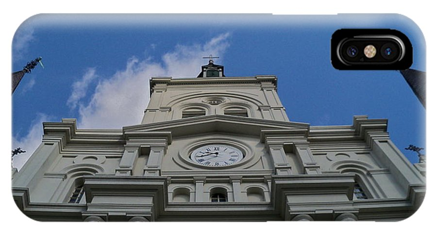 St. Louis Cathedral IPhone X Case featuring the photograph Reaching For The Heavens by Dana Doyle