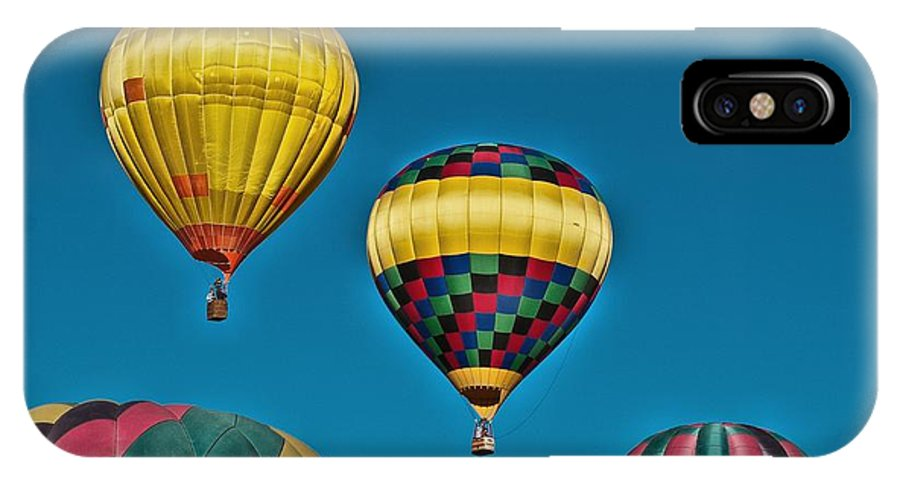 Balloons IPhone X Case featuring the photograph Reaching For The Moon by Pamela Bycraft