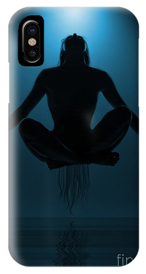 Festblues IPhone X Case featuring the photograph Reaching Nirvana.. by Nina Stavlund
