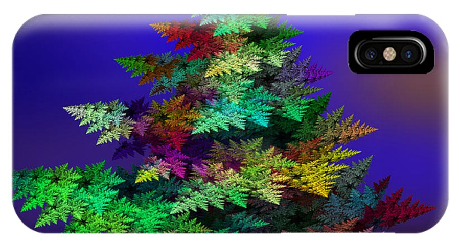 Christmas-tree IPhone X Case featuring the digital art Ready For Christmas by Klara Acel