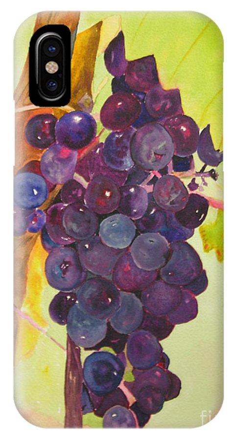 Wine IPhone X Case featuring the painting Ready For The Harvest by Peggy Dickerson