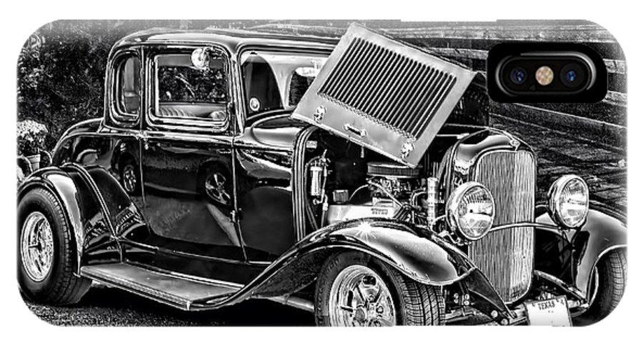 Vintage Car IPhone X Case featuring the photograph Ready For The Show by Janice Carter