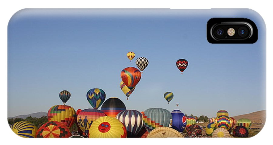 Hot Air Balloons IPhone X Case featuring the photograph Ready To Rise by Richard Mortimer