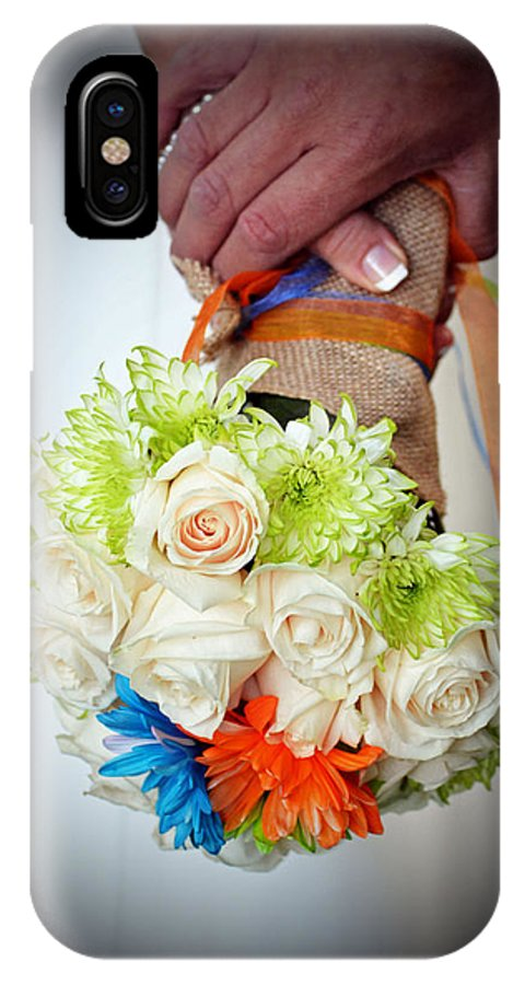 Flowers IPhone X Case featuring the photograph Ready To Wed by Holly Blunkall