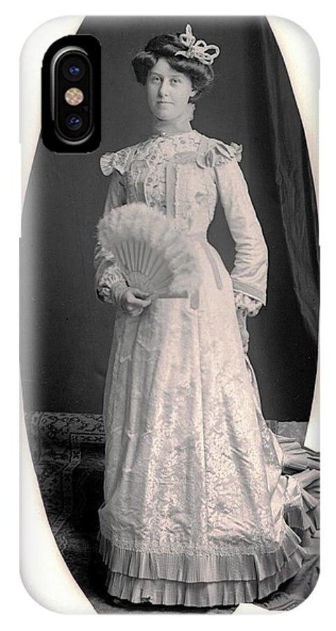 Vintage Portraits IPhone X Case featuring the photograph Real Class by William Haggart