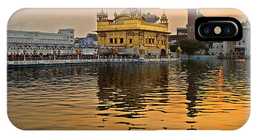 Golden Temple IPhone X Case featuring the photograph Real Gold At Golden Temple by Devinder Sangha