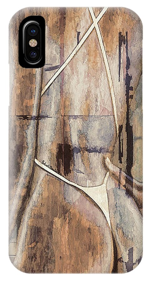 Digital Art IPhone X Case featuring the painting Rear View by Robert Maestas