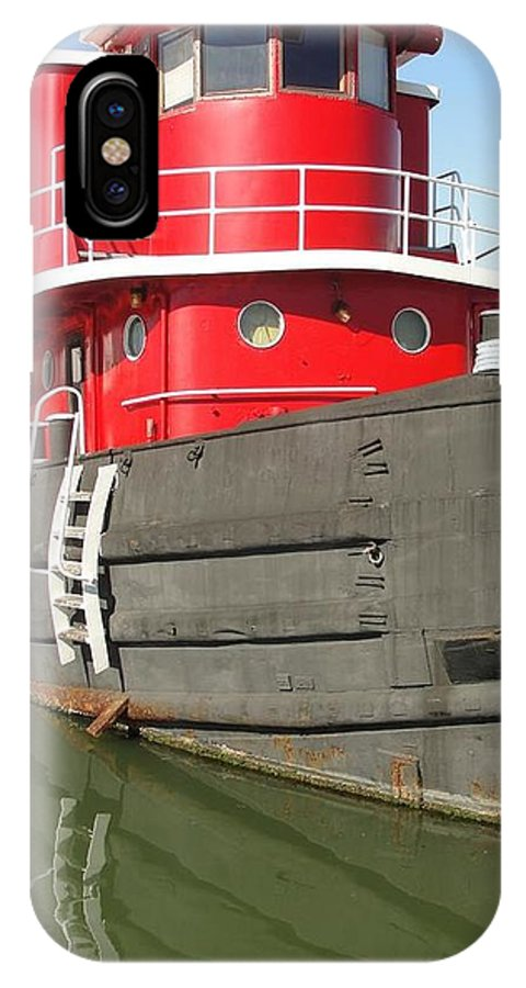 Tug Boats Marine IPhone X Case featuring the photograph Rebel Marine Tug by Randy Dixon