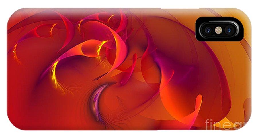 Hanza Turgul IPhone X Case featuring the digital art Rebirth Of Abstract by Hanza Turgul