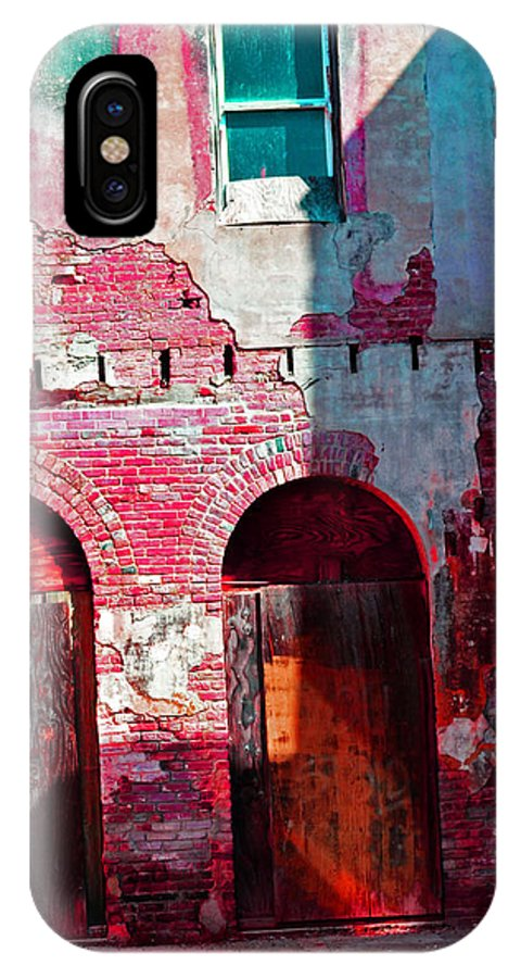 Abandoned IPhone X Case featuring the photograph Red Abandonment by Holly Blunkall