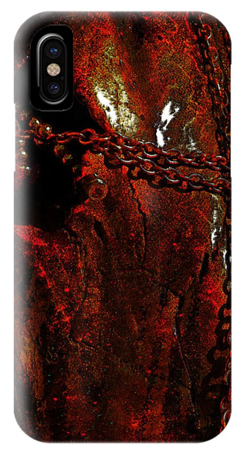 Photographs IPhone X Case featuring the photograph Red Abstract by Mayhem Mediums