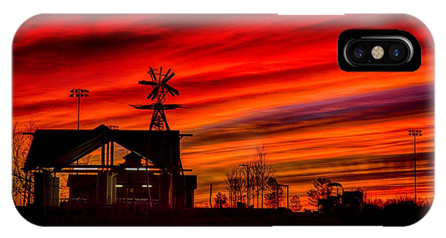 Colorful IPhone X / XS Case featuring the photograph Red And Orange Sky by Dick Knapp